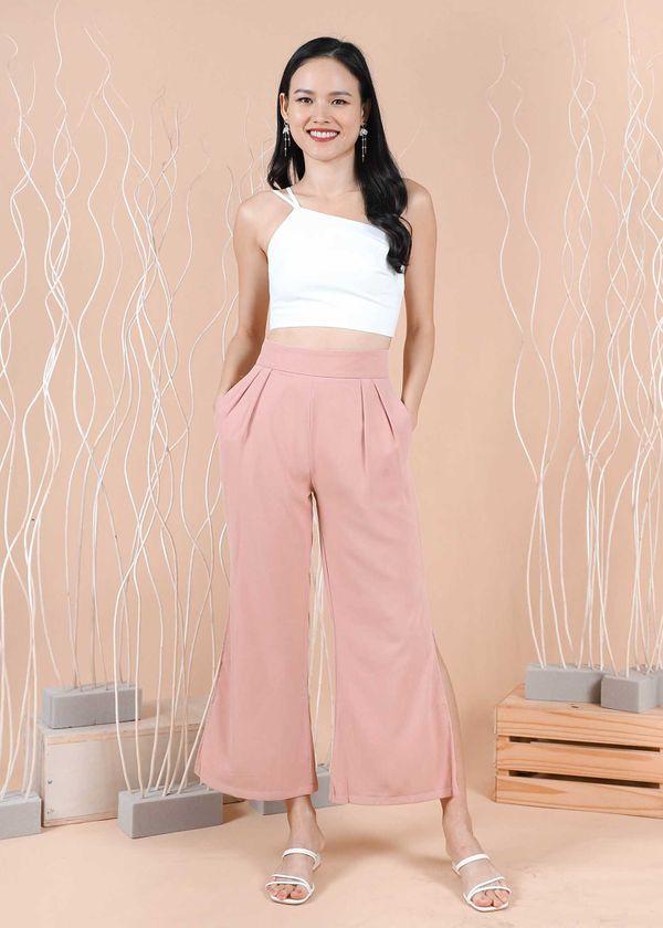 Zrea Bell Slit Pants in Summer Pink #6stylexclusive