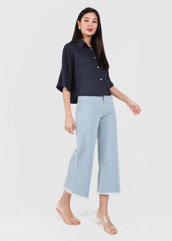 Gwenda Straight Cut Jeans in Light Wash #6stylexclusive