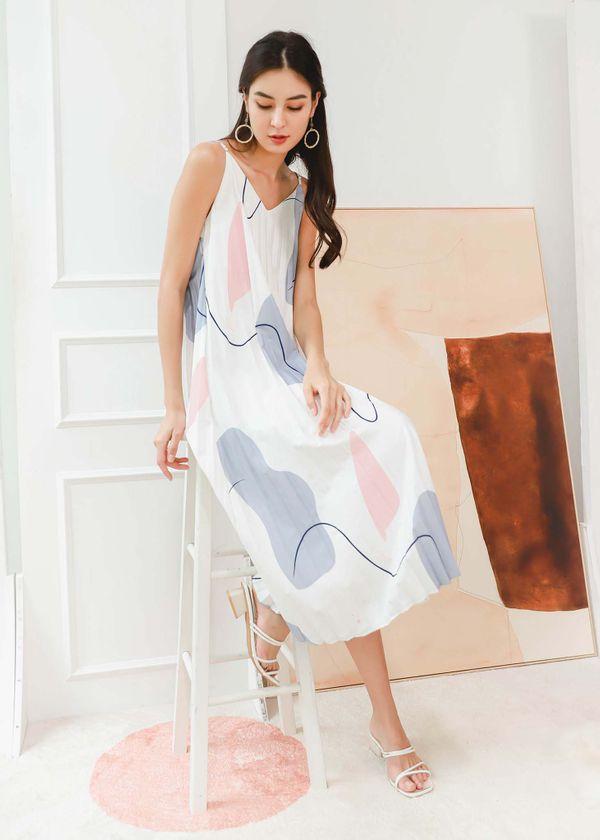 Lavelle Pleated Midi Dress #6stylexclusive