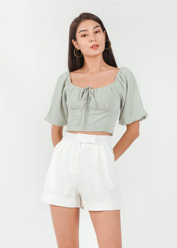 Alexis Puffy Top in Sage #6stylexclusive