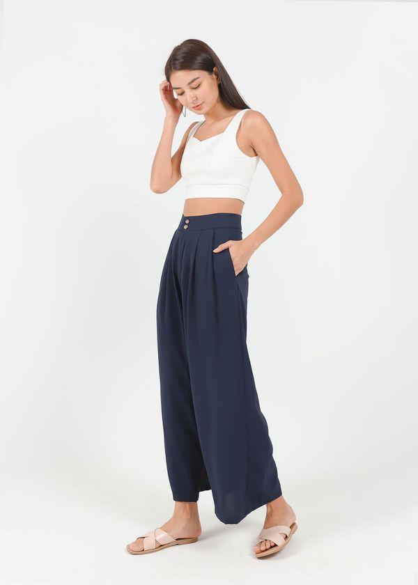 Blanca Wide Legged Pants in Navy #6stylexclusive