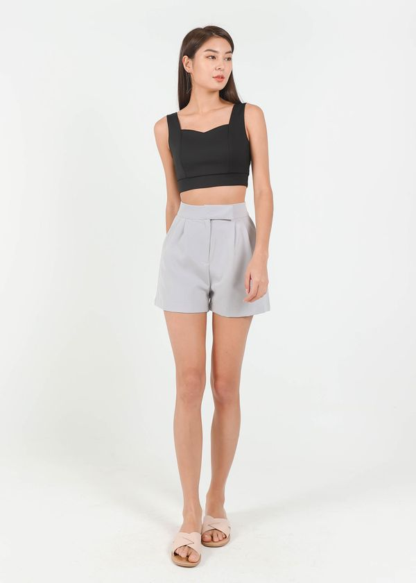 Buckle It Up Highwaisted Shorts in Lilac Grey #6stylexclusive