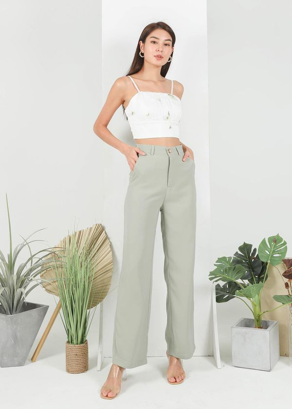 Cee Straight Cut Pants in Sage
