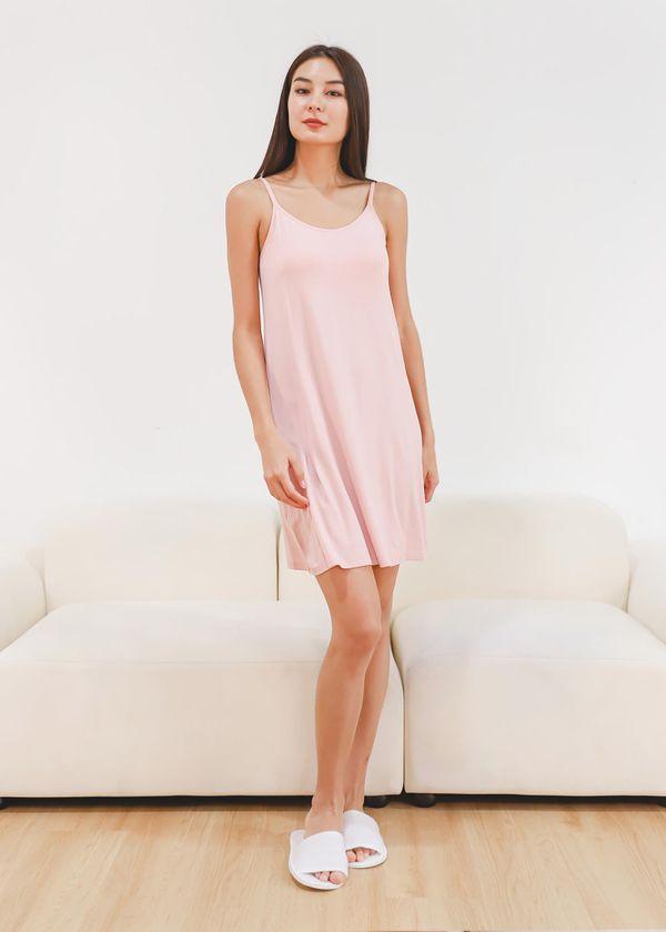 Yuri Lounge Padded Dress in Pink