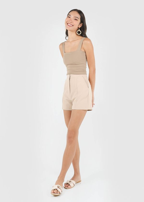 Classic Panel Shorts in Sand #6stylexclusive