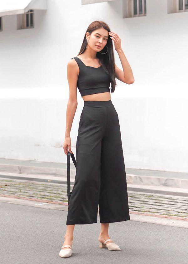 Kaidyn Wide Legged Pants in Black #6stylexclusive