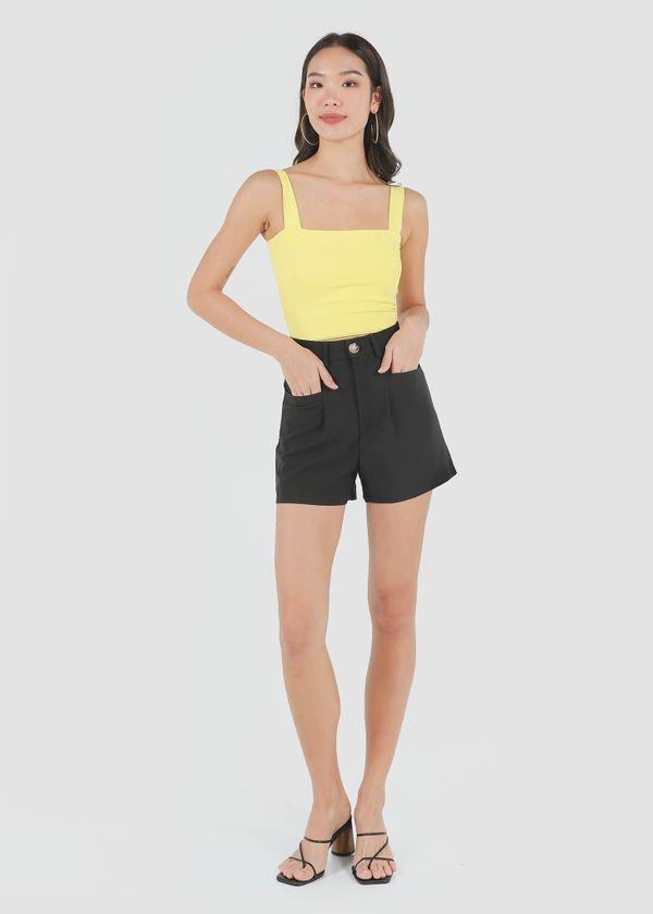 Caden Highwaist Shorts in Black #6stylexclusive