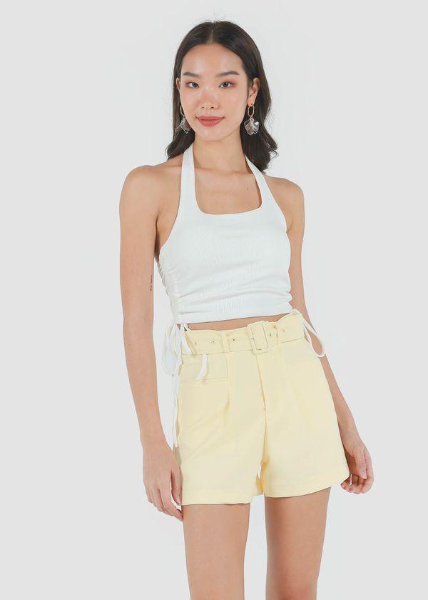 Caden Highwaist Shorts in Daffodil Yellow #6stylexclusive