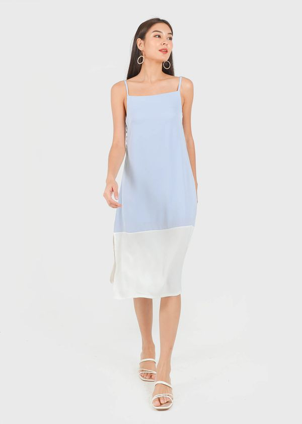 Escape Tent Dress in Periwinkle x white #6stylexclusive