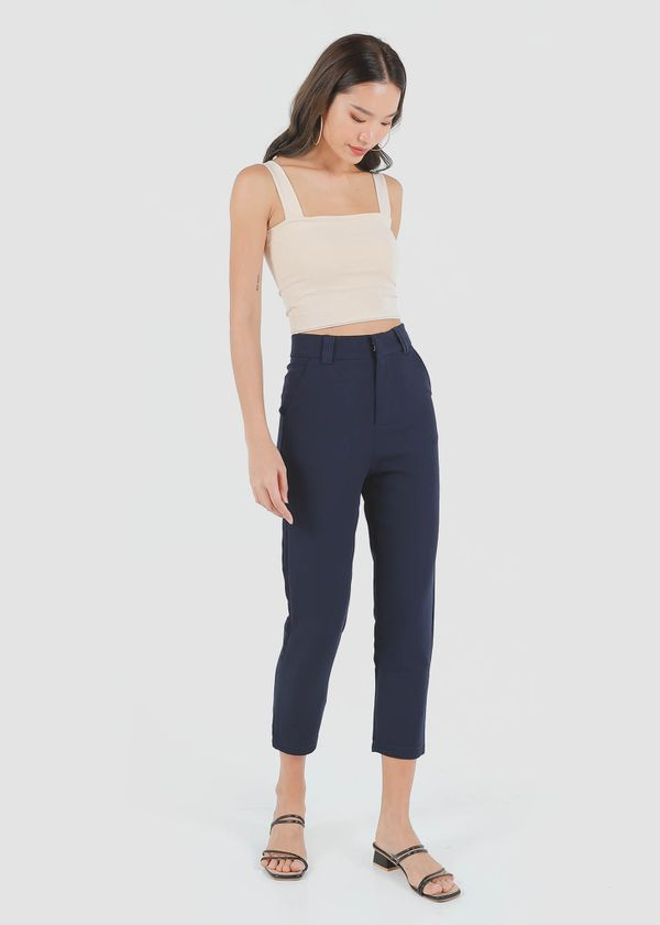 Fundamental Tapered Pants in Navy #6stylexclusive