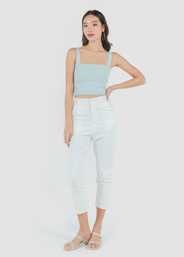 Fundamental Tapered Pants in White #6stylexclusive