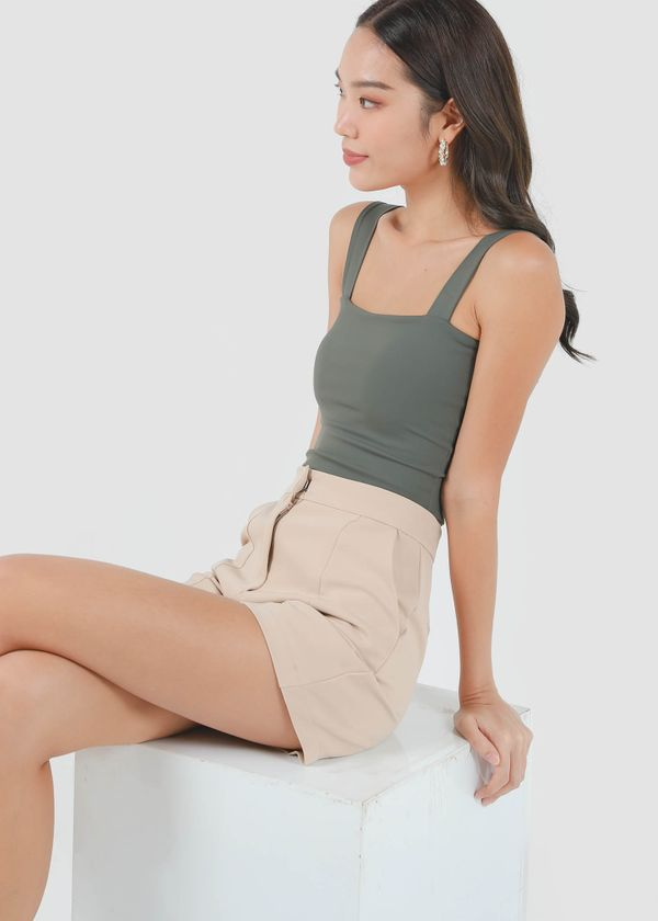 Roxy Square Padded Top in Metal Green #6stylexclusive