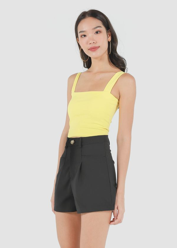 Roxy Square Padded Top in Mustard #6stylexclusive