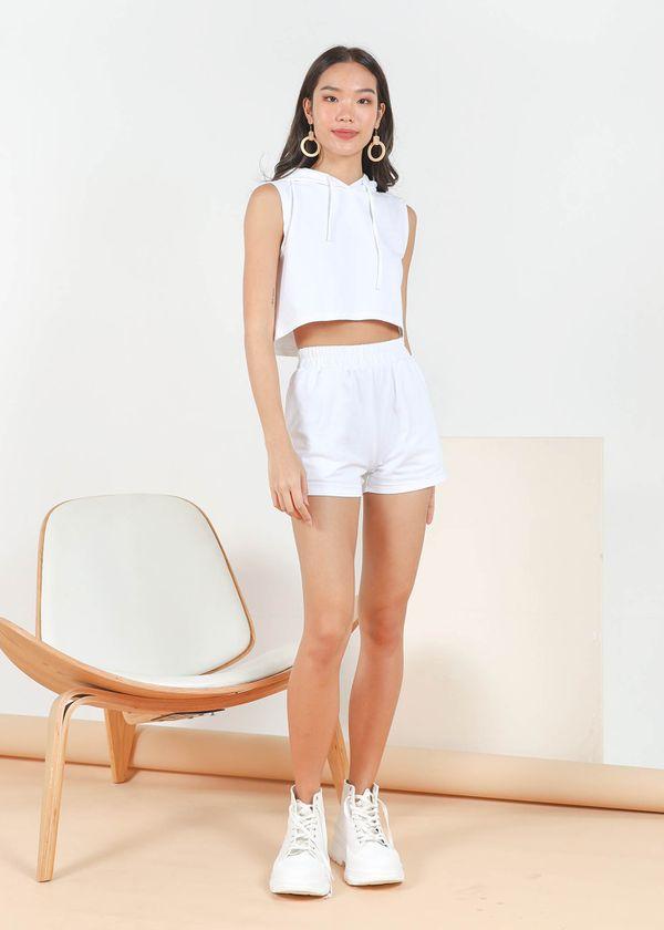 Tobi 2 Piece Hoodie Set in White