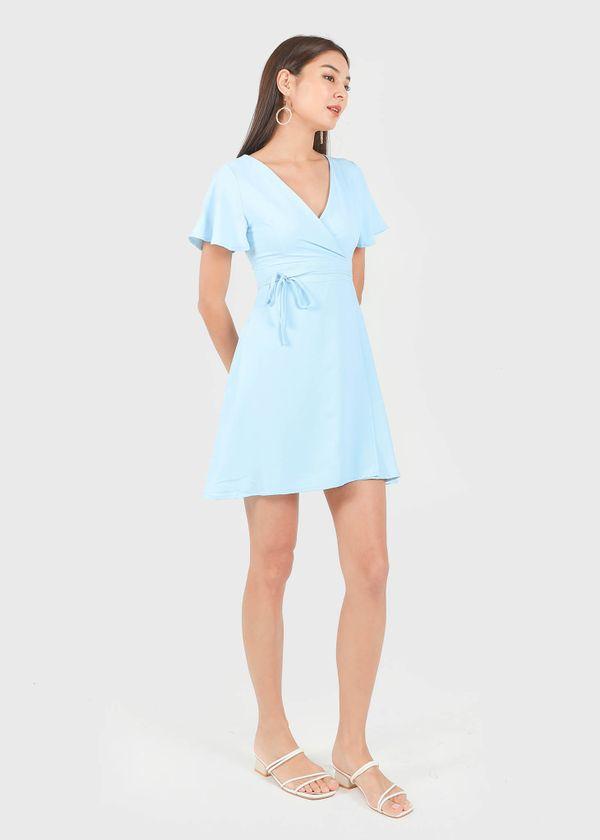 Zanya Kimono Wrap Dress in Baby Blue #6stylexclusive