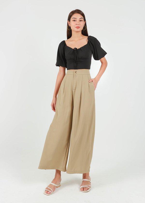 Blanca Wide Legged Pants in Baguette Brown #6stylexclusive