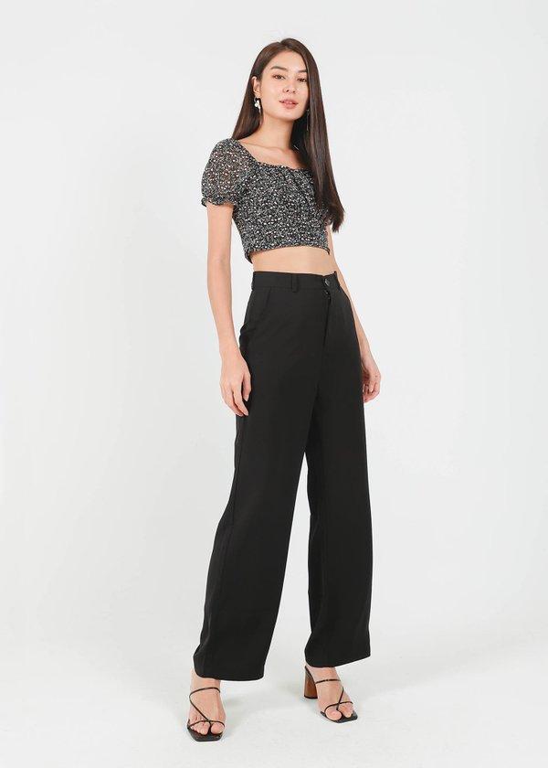 Cee Straight Cut Pants in Black