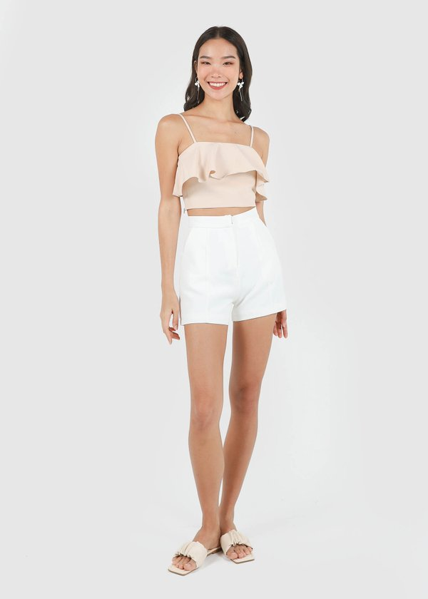 Classic Panel Shorts in White #6stylexclusive