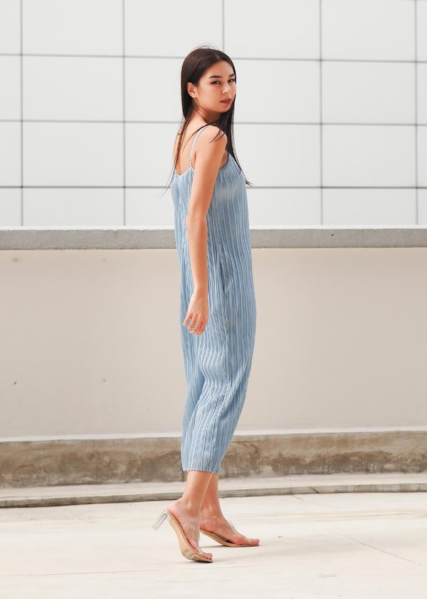 Cleo Pleated Jumpsuit in Cloudy Blue #6stylexclusive
