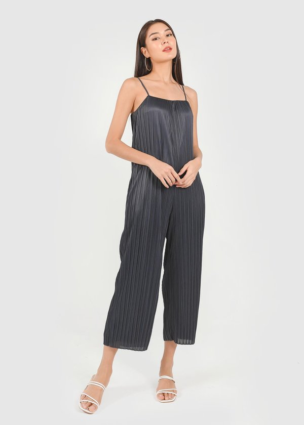 Cleo Pleated Jumpsuit in Midnight Blue #6stylexclusive