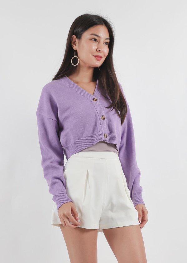 Editors Cardi Top in Jade Purple