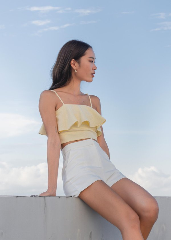 Everyday Flutter Top V2 in Daffodil Yellow #6stylexclusive