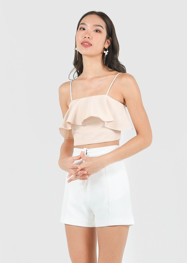 Everyday Flutter Top V2 in Sand #6stylexclusive