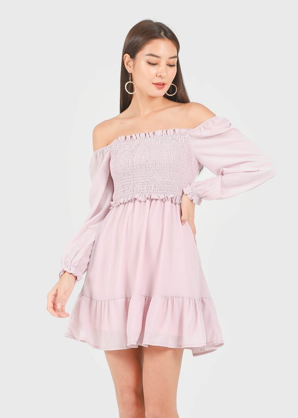 Fairy 2-Way Chiffon Tiered Dress in Lilac Pink #6stylexclusive