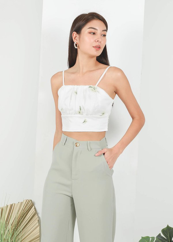 Geve Mesh Ruched Top