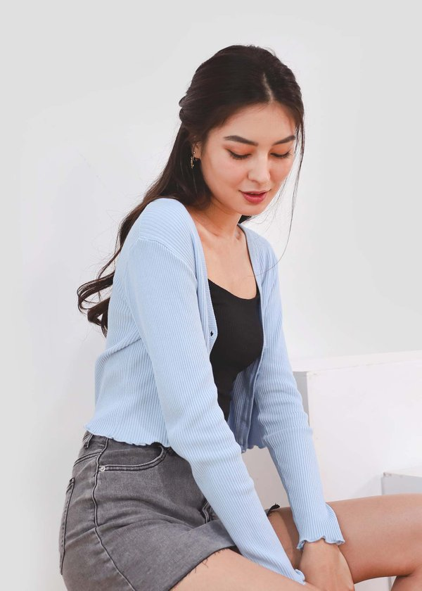 I Knit You Cardigan in Baby Blue