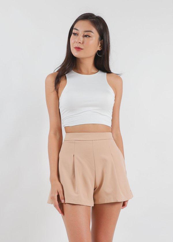 Everyday Highwaist Shorts in Tortilla Brown V1 #6stylexclusive