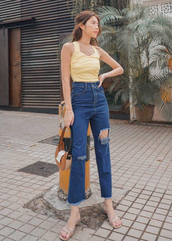 Zora Boyfriend Jeans in Dark Wash #6stylexclusive