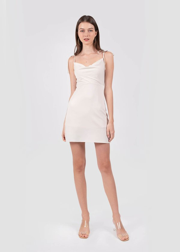 Willow Cowl Neck Dress in Champagne Nude #6stylexclusive