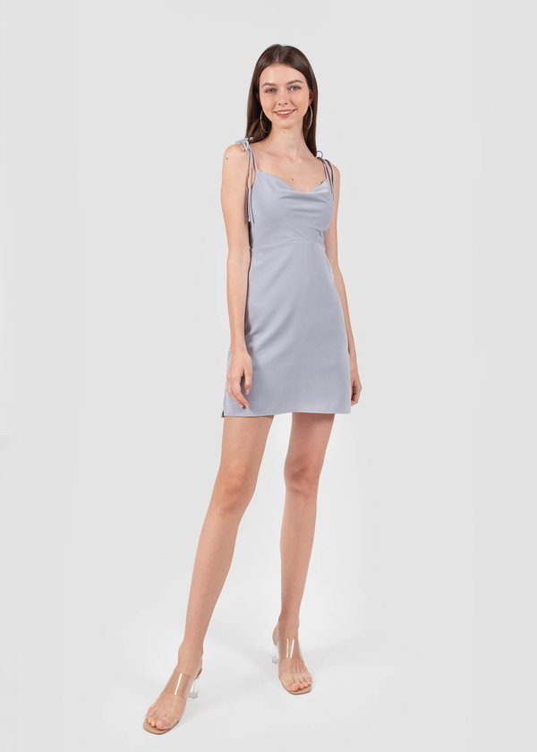 Willow Cowl Neck Dress in Dusty Periwinkle #6stylexclusive