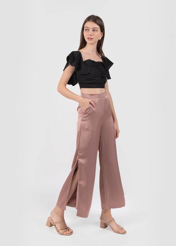 Heidi Slit Pants in Rose Mauve #6stylexclusive