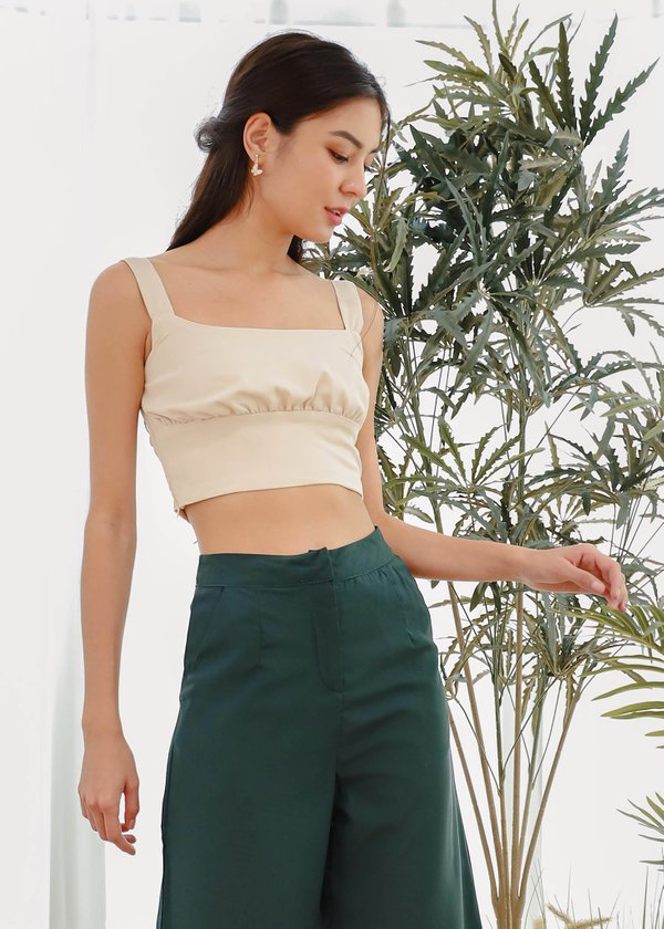Jazzy Ruched Top in Nude #6stylexclusive