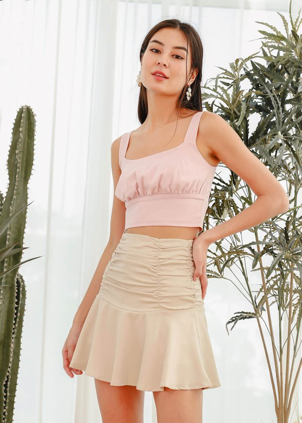 Jazzy Ruched Top in Baby Pink #6stylexclusive