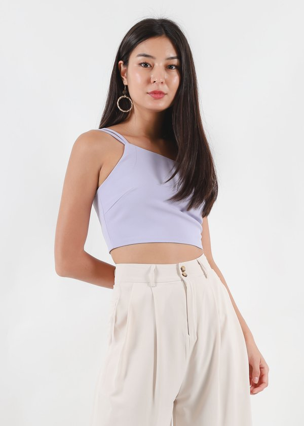 Chloe Double Strap Toga Top in Lilac #6stylexclusive