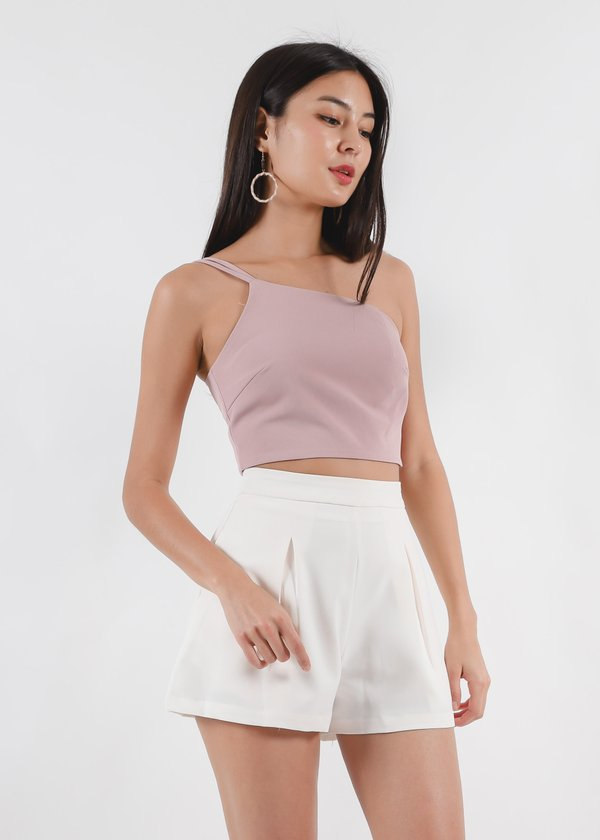 Chloe Double Strap Toga Top in Dusty Pink #6stylexclusive