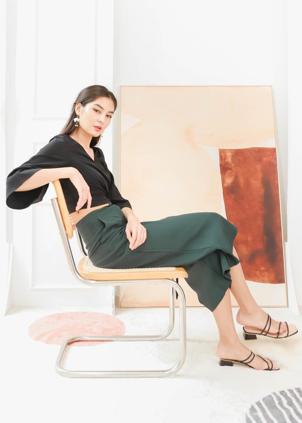 Kyra Culottes in Emerald Green #6stylexclusive