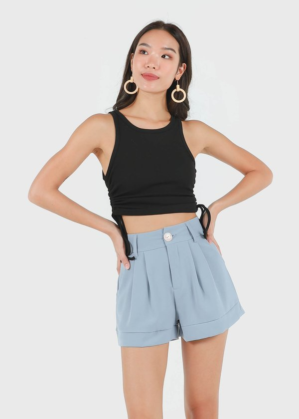Gilise Shorts in Dusty Blue #6stylexclusive