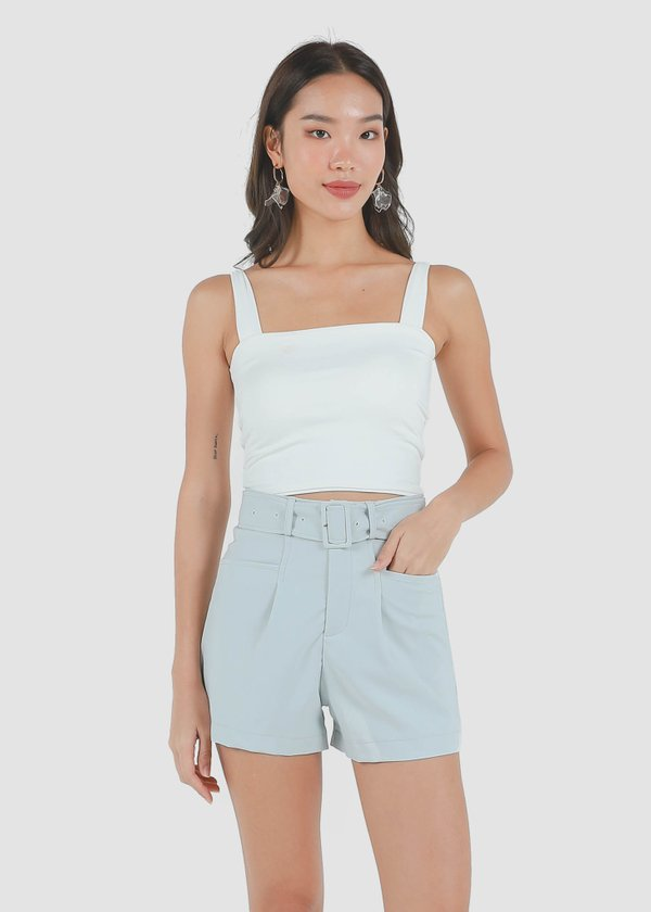 Roxy Square Padded Top in White #6stylexclusive