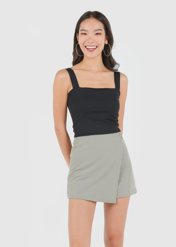 Roxy Square Padded Top in Black #6stylexclusive