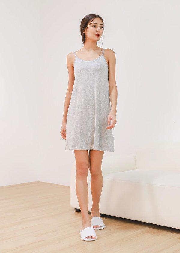 Yuri Lounge Padded Dress in Grey
