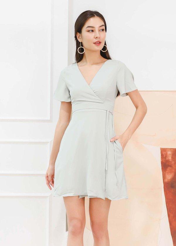 Zanya Kimono Wrap Dress in Sage #6stylexclusive