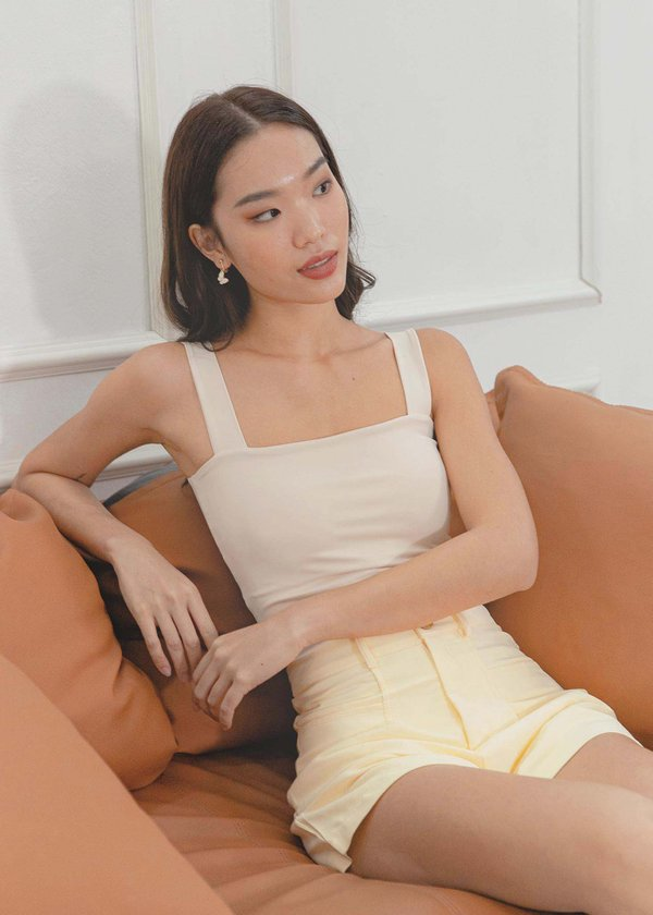 Roxy Square Padded Top in Nude #6stylexclusive