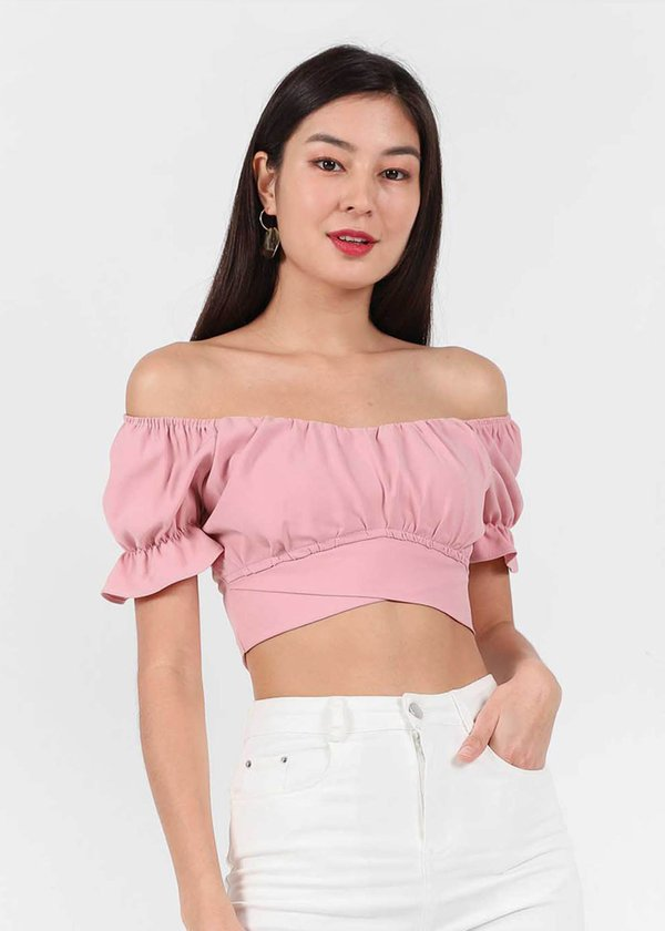 Halton Ruched Top in Rose Pink #6stylexclusive