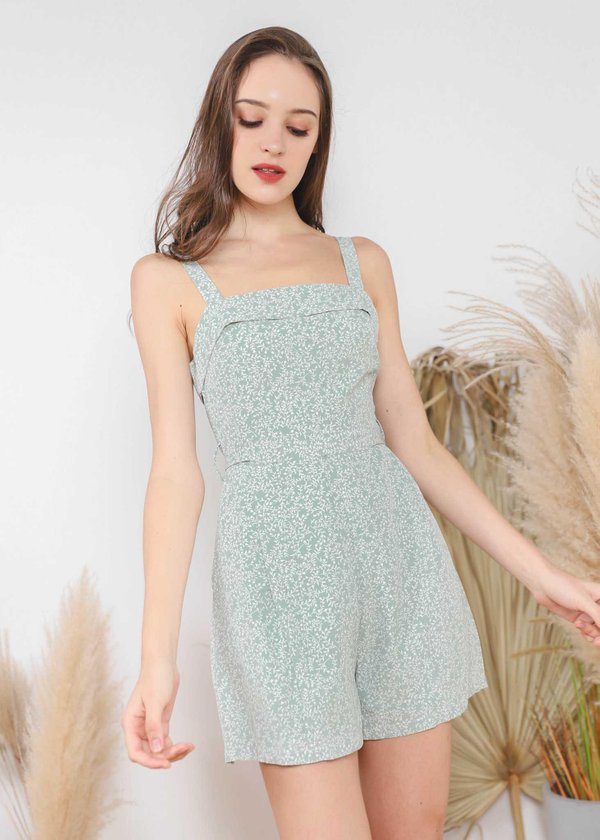 Drea Chic Playsuit In Mint Green #6stylexclusive