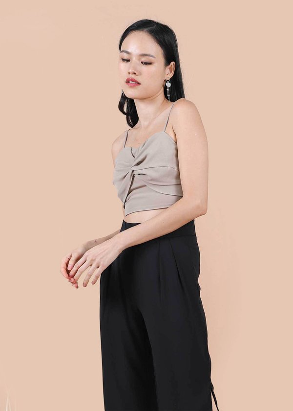 Brynn Knot Top in Nude Brown #6stylexclusive
