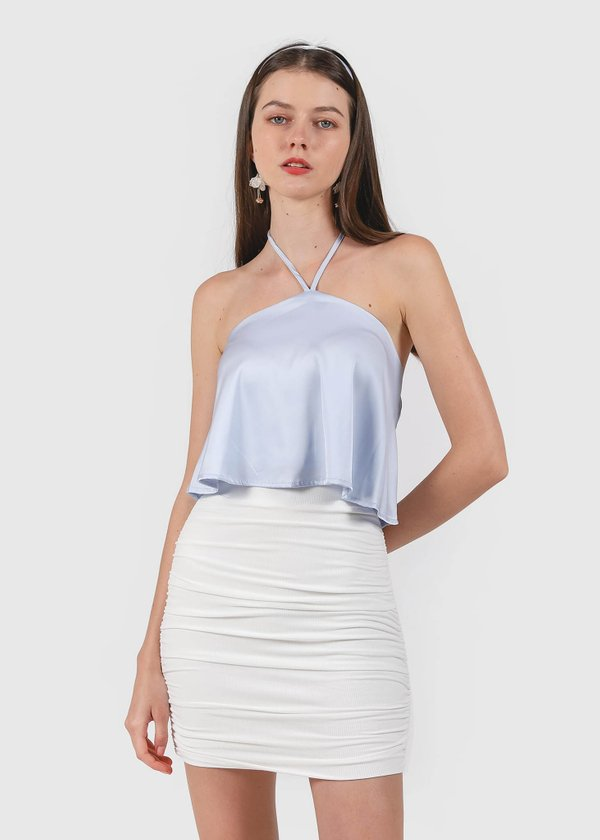 Cotton Candy Halter Top in Lilac Blue #6stylexclusive